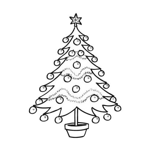 Relativ à imprimer : Evènements - Noël - Sapin de Noël numéro HX49