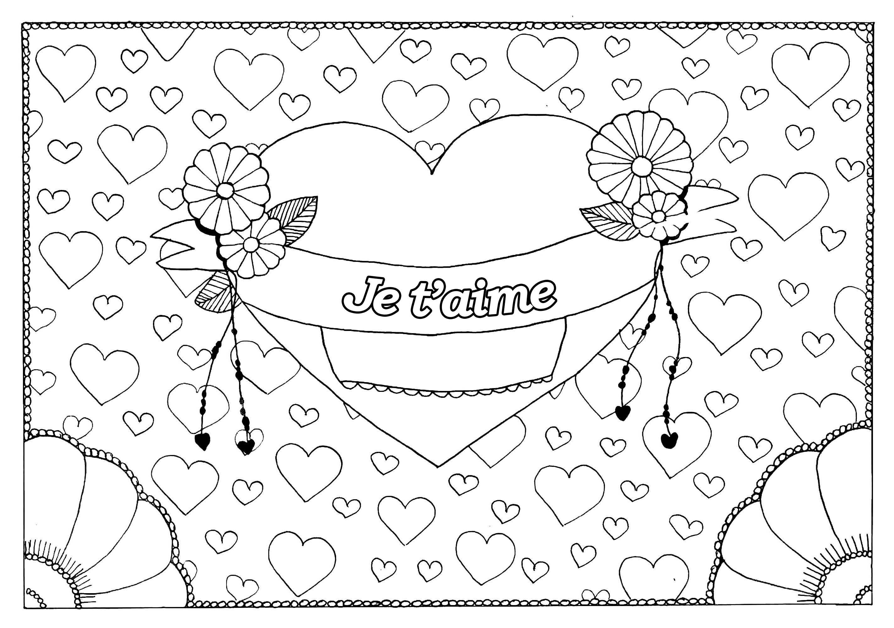 Coloriages à imprimer : Saint-Valentin, numéro : 92bd2424
