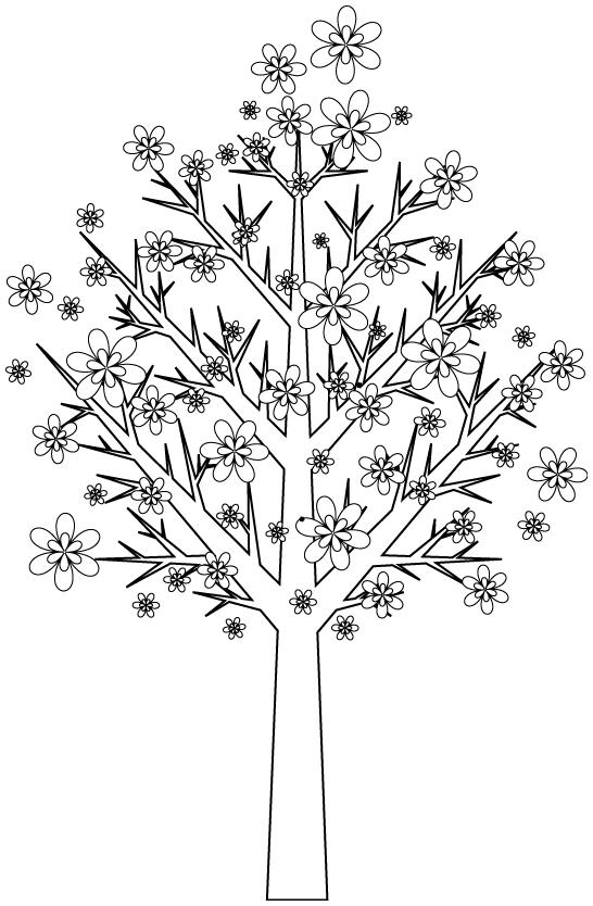 dessins en couleurs imprimer arbres num ro 58859. Black Bedroom Furniture Sets. Home Design Ideas