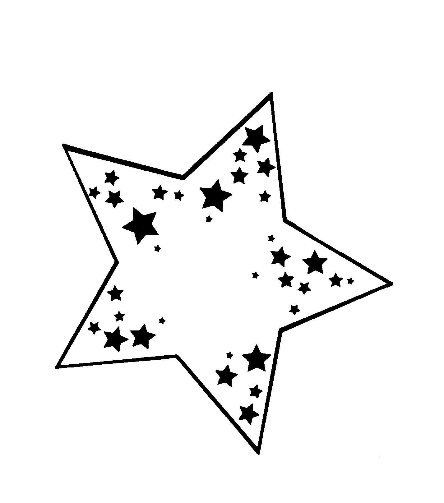 patron étoile a imprimer