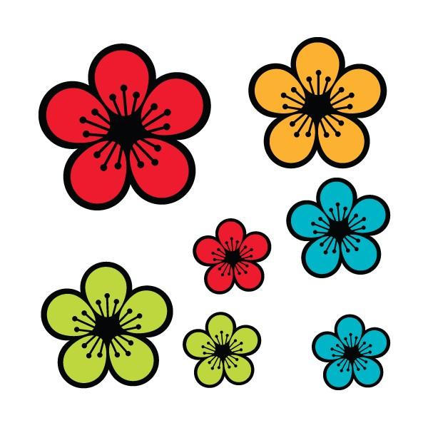 Fleurs printemps dessin couleur - Fleur en dessin ...
