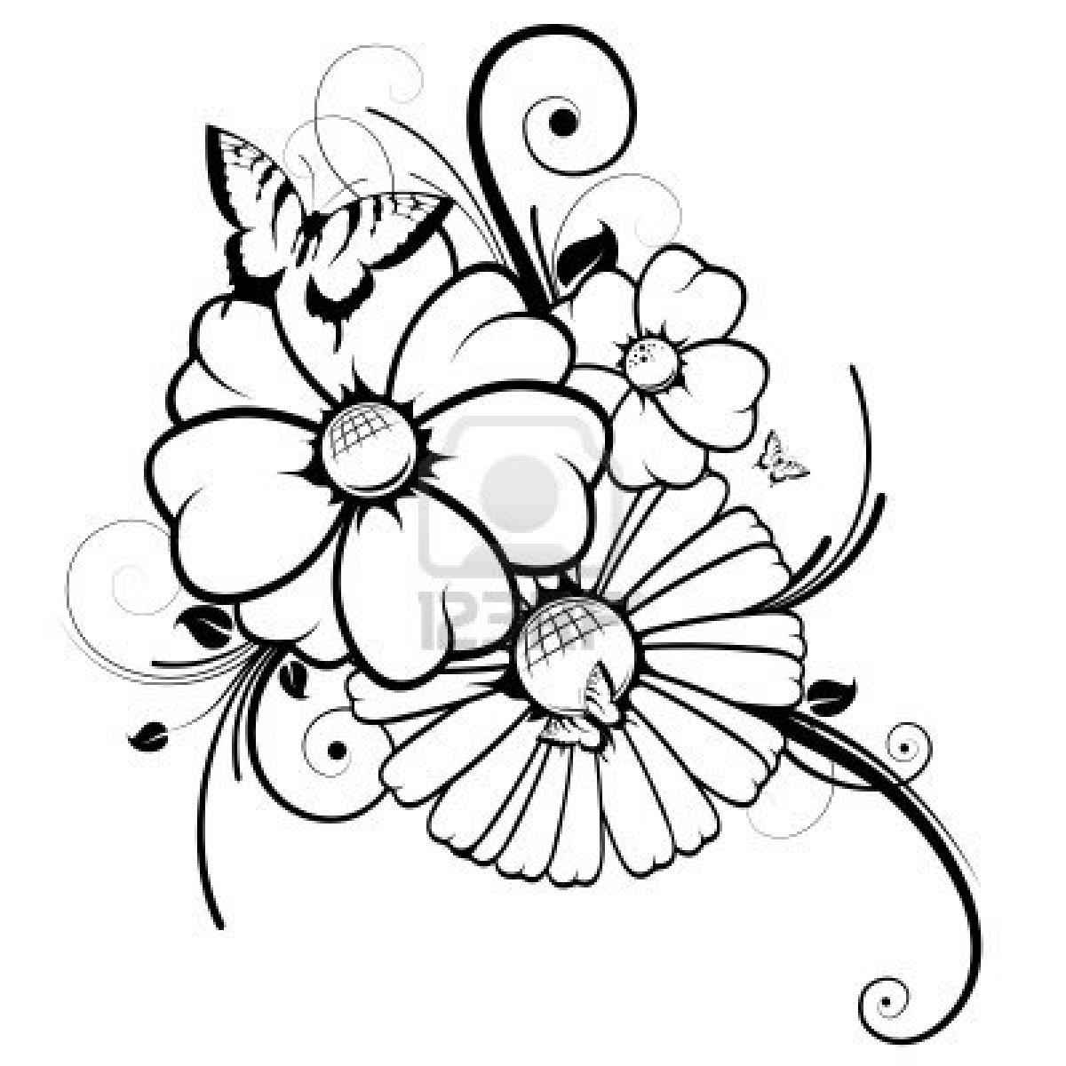 Coloriages imprimer fleurs num ro 224874 - Fleurs en dessin ...