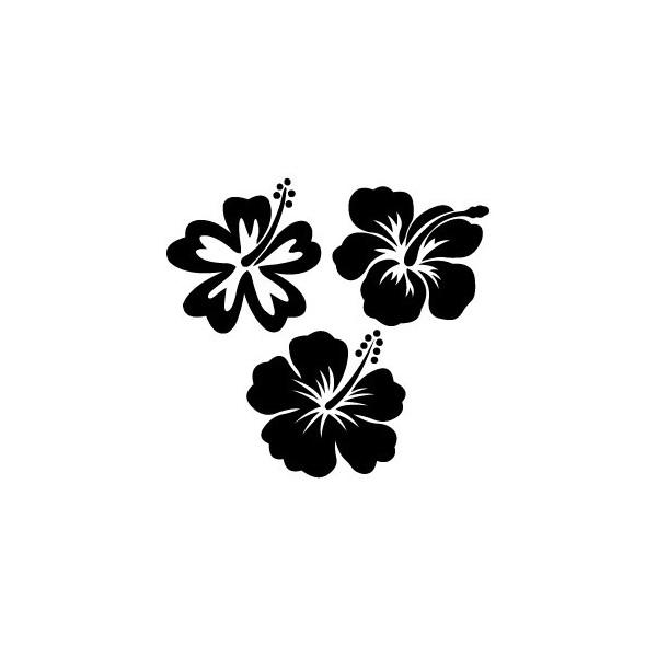 Fleurs hawaiennes dessin - Coloriage hawaienne ...