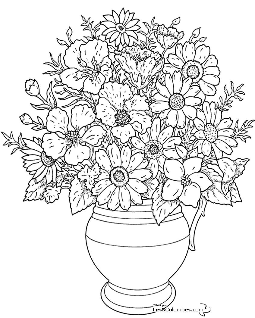 Coloriages à imprimer : Fleurs, numéro : 91bc357