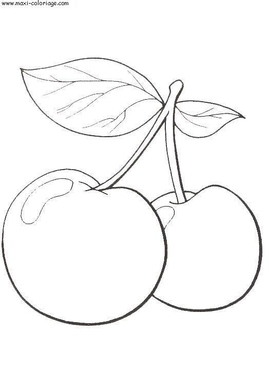 en couleurs à imprimer nature fruits numéro 569525