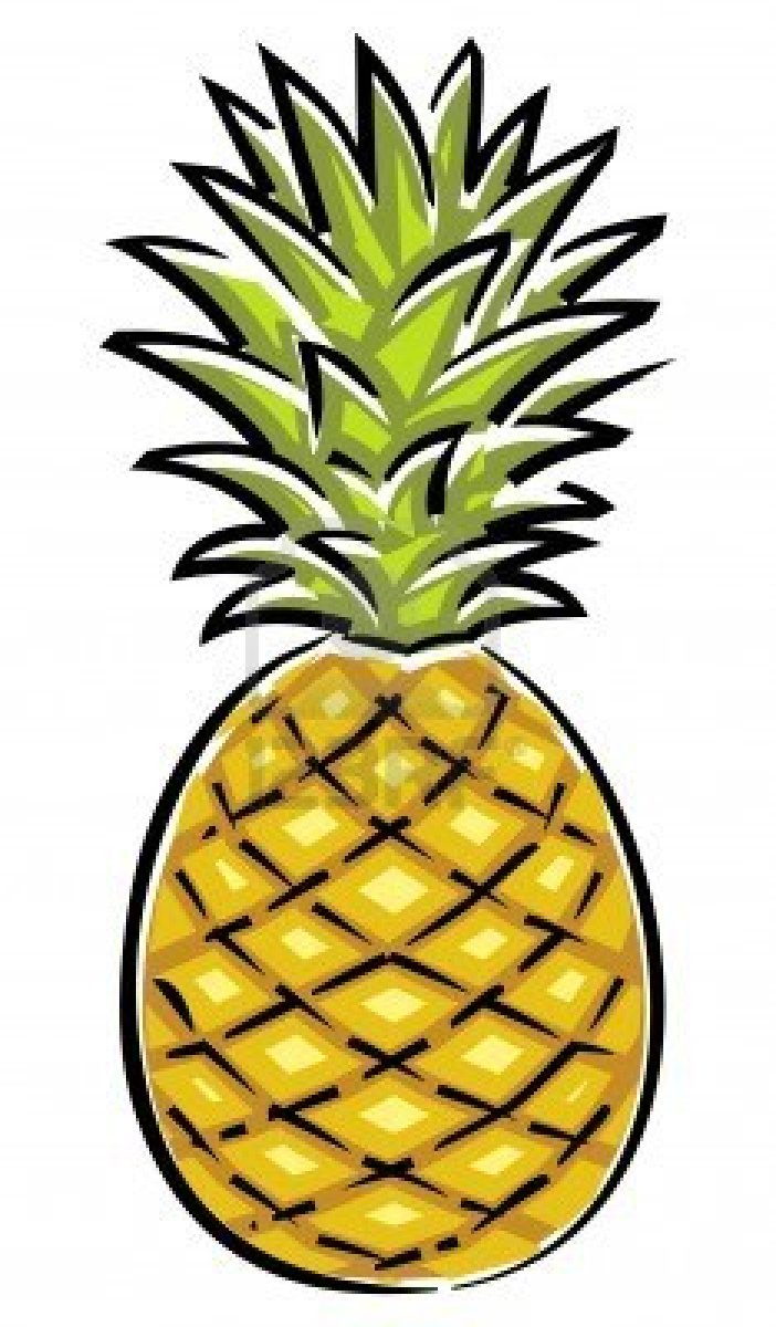 The gallery for cute pineapple stencil - Ananas dessin ...