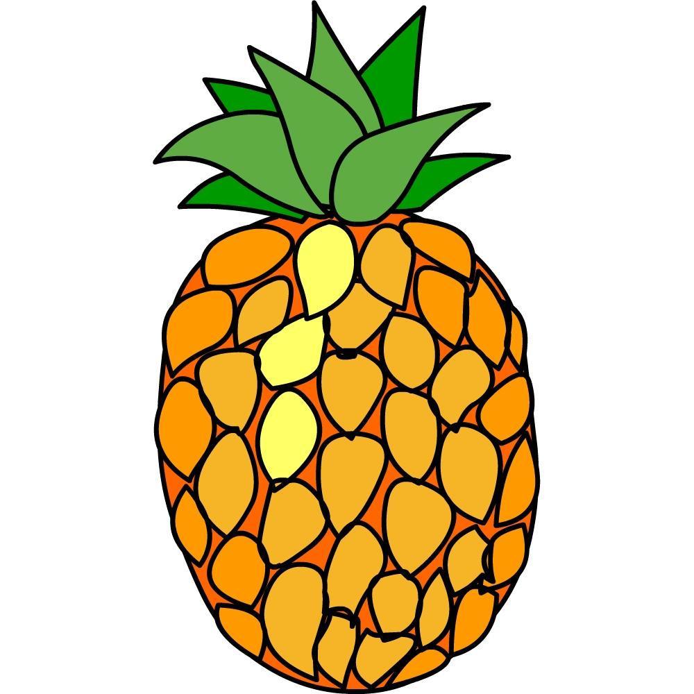 Dessins en couleurs imprimer ananas num ro 25051 - Dessins fruits ...