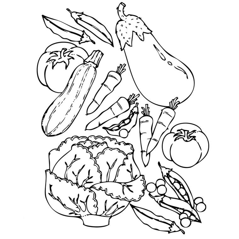 Coloriages à imprimer : Légumes, numéro : 13086
