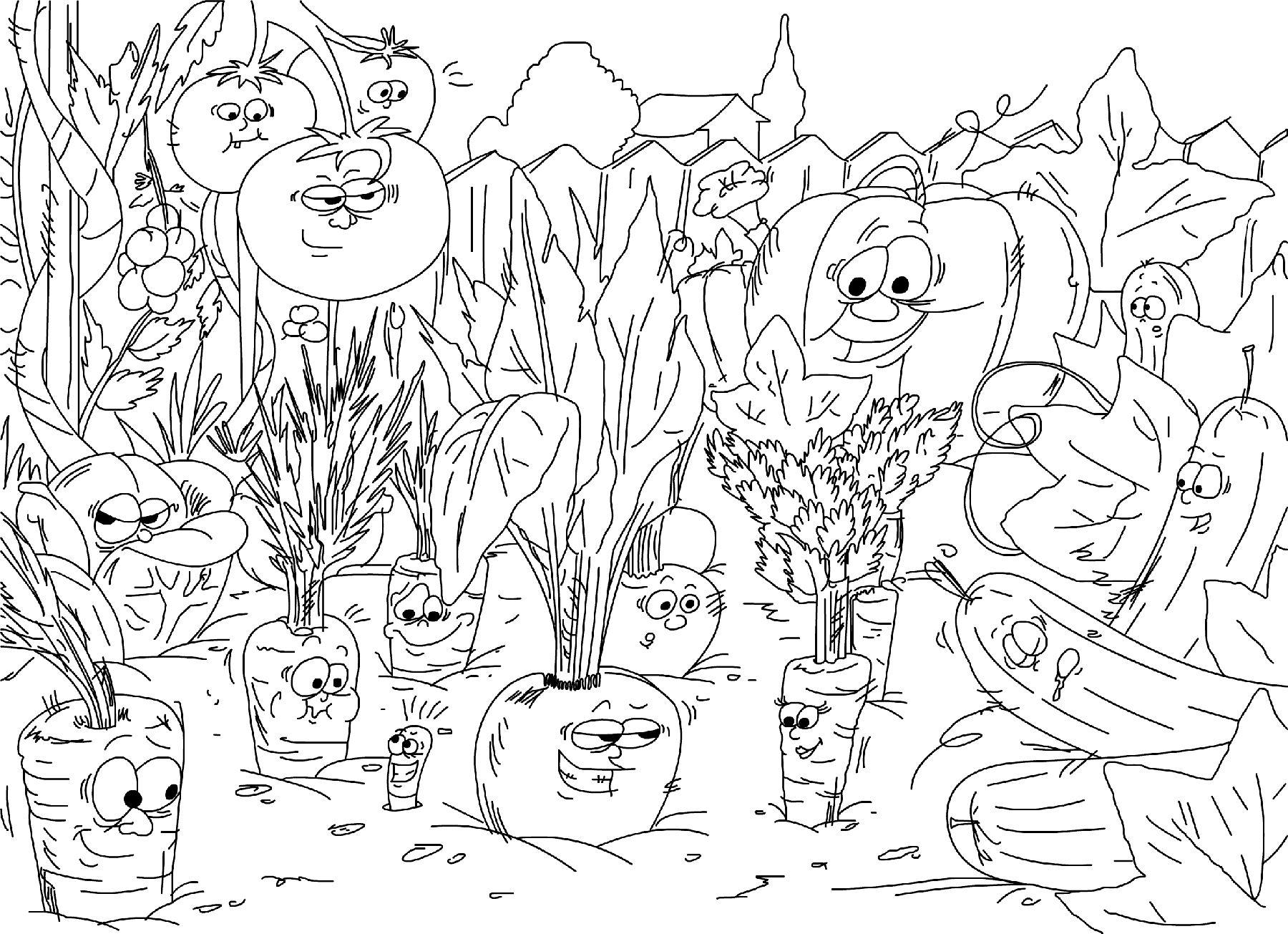 Coloriages à imprimer : Légumes, numéro : 13505