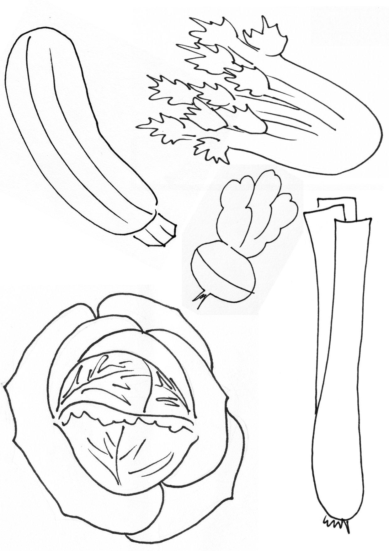 Coloriages à imprimer : Légumes, numéro : 13518