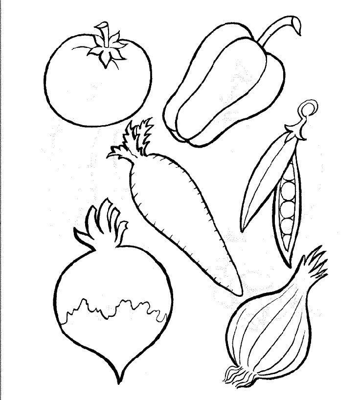 Coloriages à imprimer : Légumes, numéro : 8173