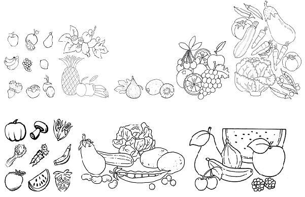Coloriages à imprimer : Légumes, numéro : 8195