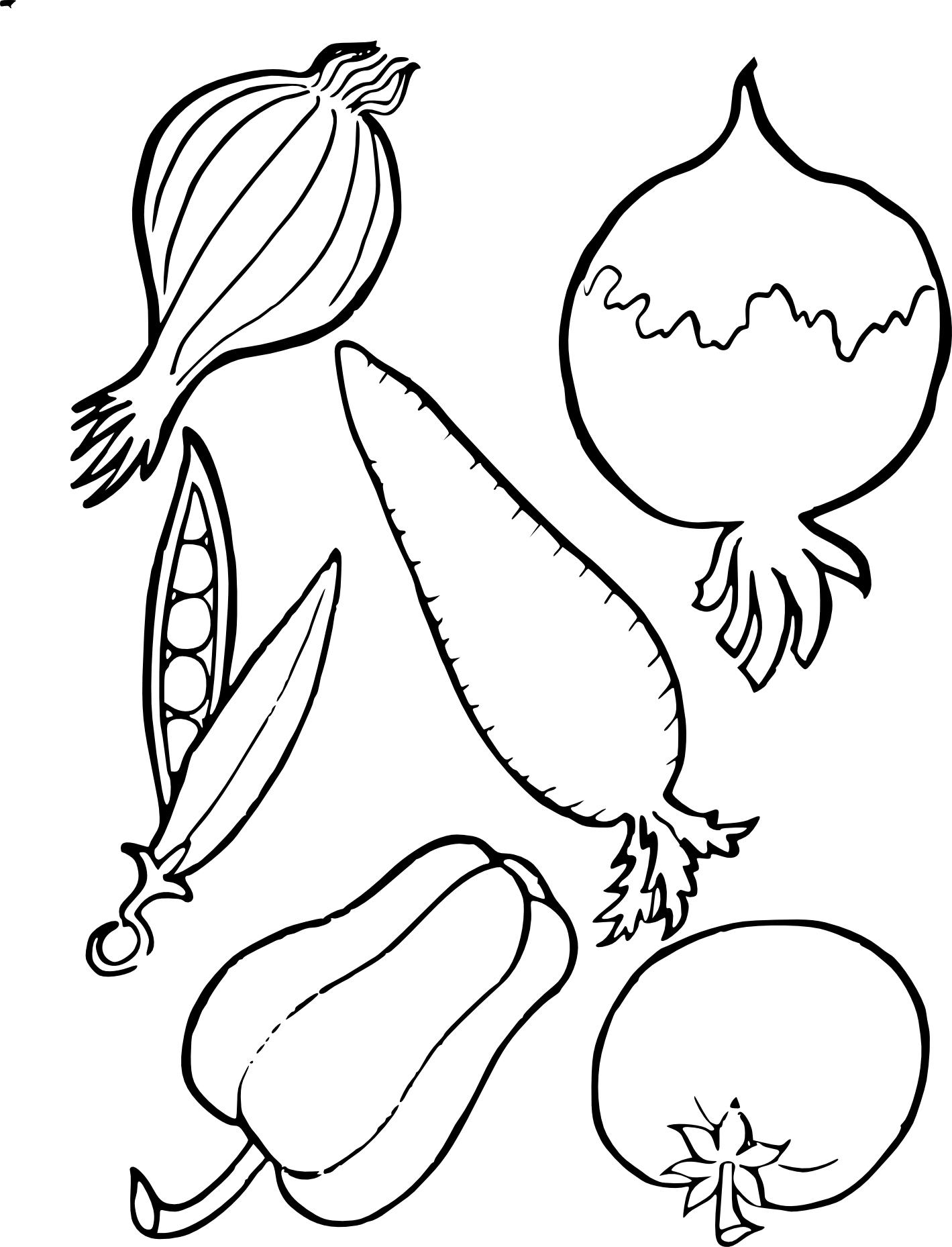 Coloriages à imprimer : Légumes, numéro : 96919eb5