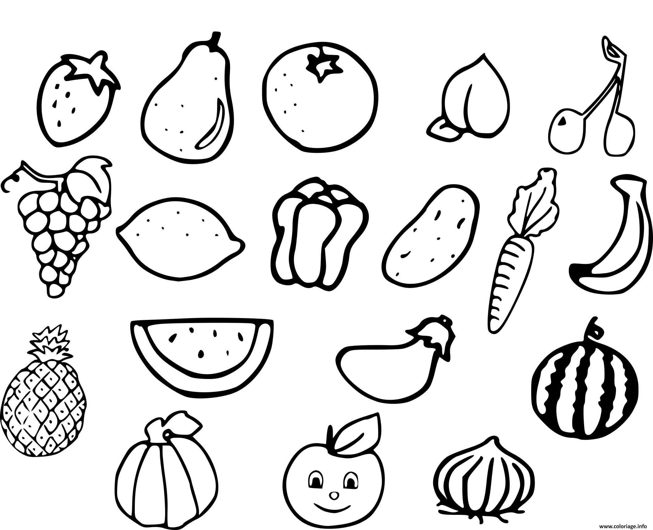 Coloriages à imprimer : Légumes, numéro : d619b516