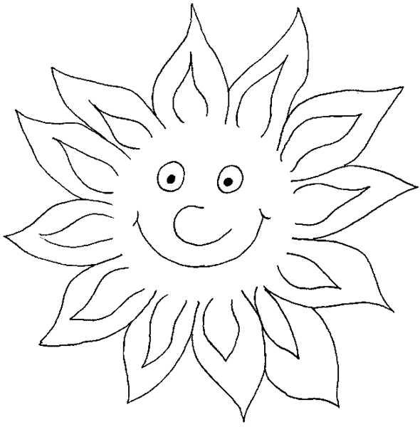 Coloriages à imprimer : Soleil, numéro : 3545