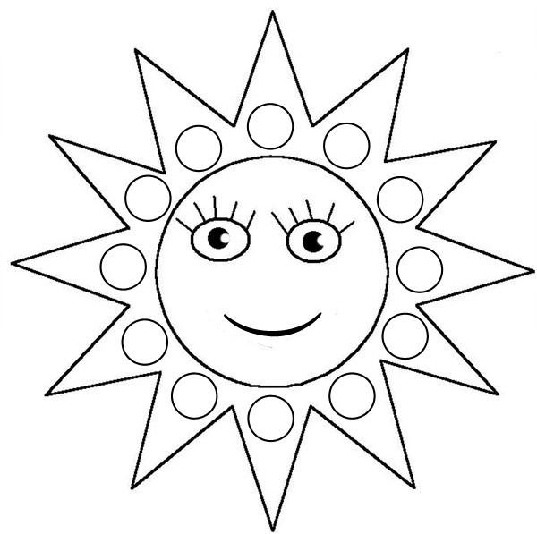 Coloriages à imprimer : Soleil, numéro : 354878