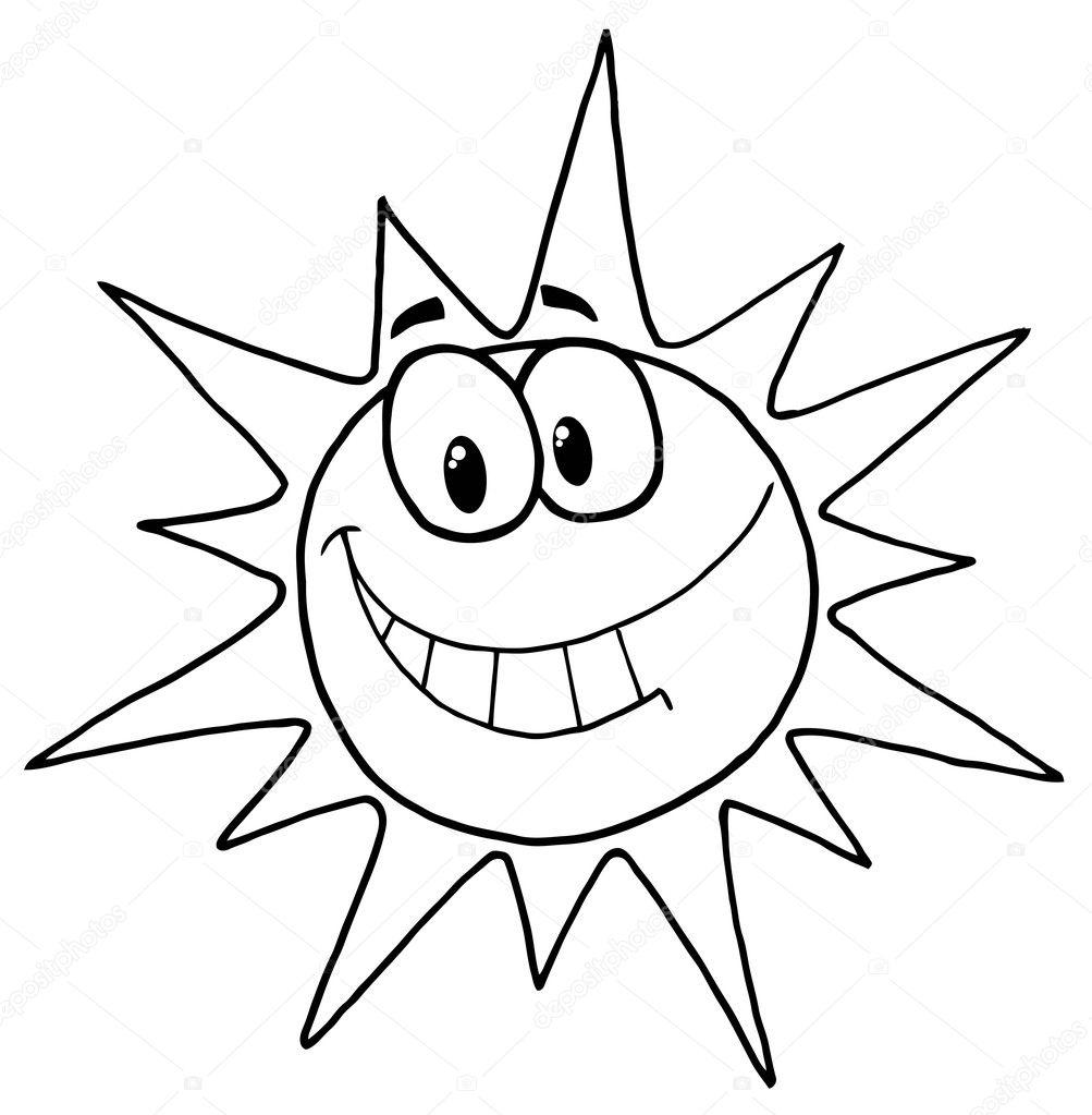 Coloriages à imprimer : Soleil, numéro : 393fbbac