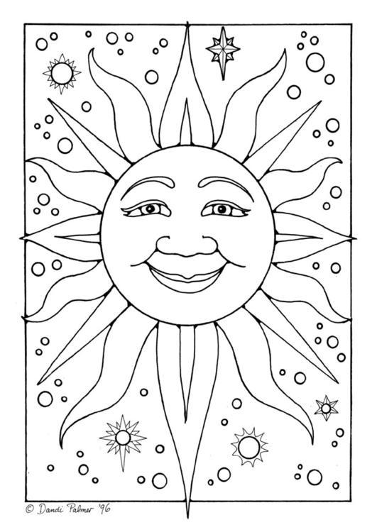 Coloriages à imprimer : Soleil, numéro : 7242