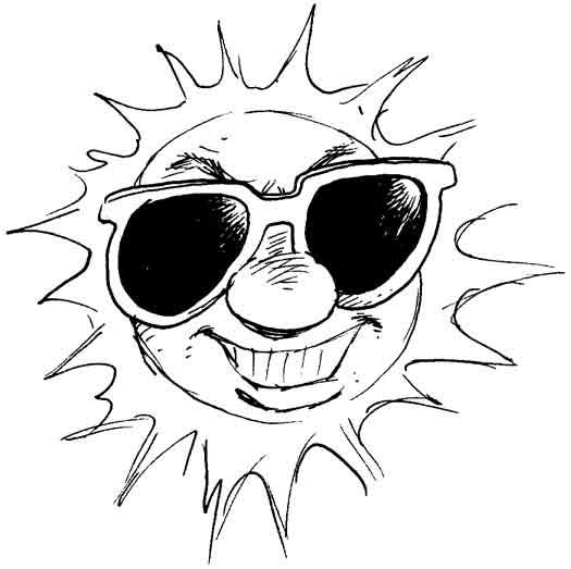 Coloriages à imprimer : Soleil, numéro : 7252