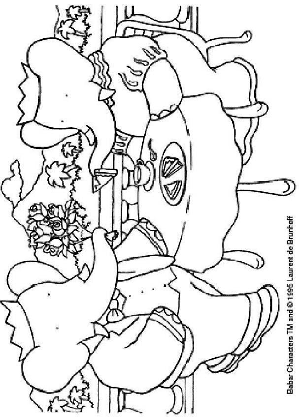 Coloriages à imprimer : Babar, numéro : 4028