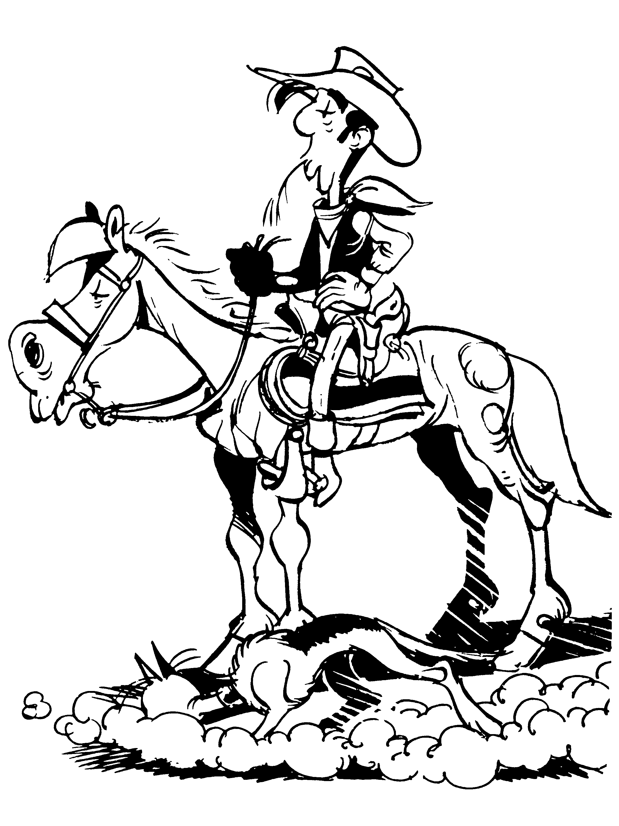 Coloriages imprimer lucky luke num ro 673111 - Coloriage bande dessinee ...