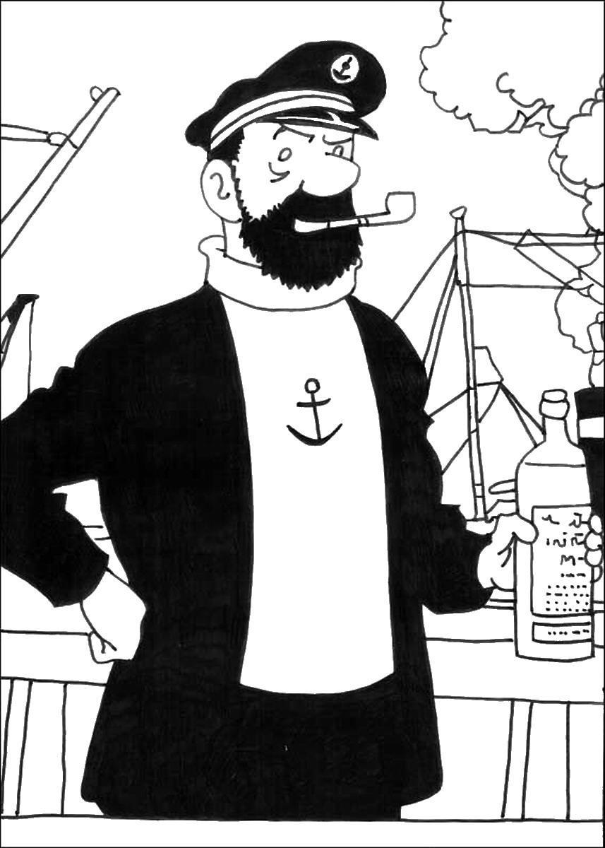 Coloriage Bateau La Licorne Tintin.Coloriages A Imprimer Tintin Numero 755650