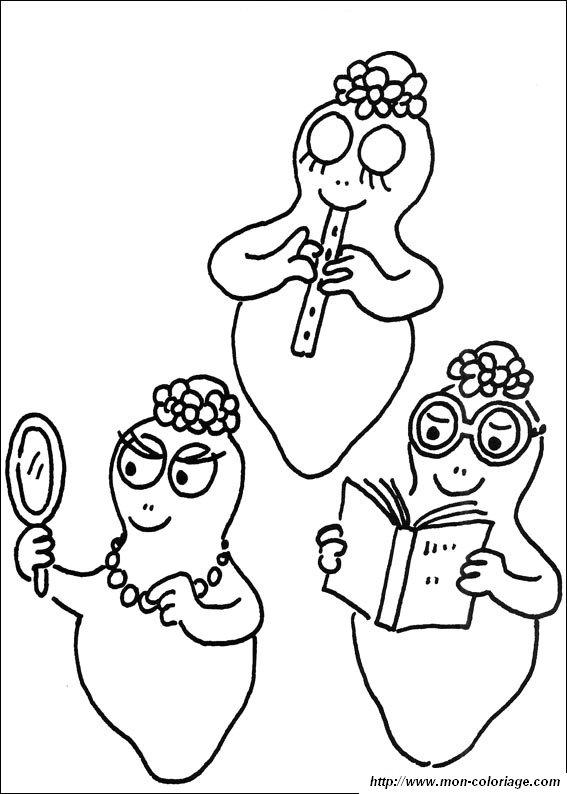 Coloriage imprimer personnages c l bres barbapapa - Coloriage barbouille ...