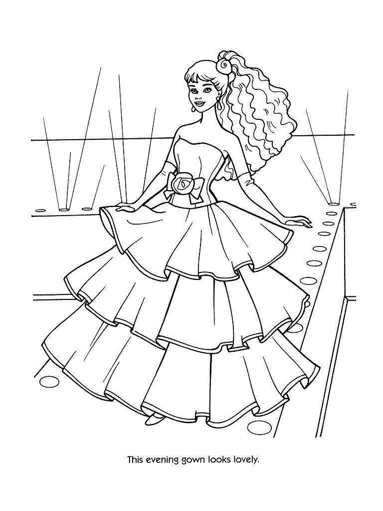 Coloriages à imprimer : Barbie, numéro : 244225
