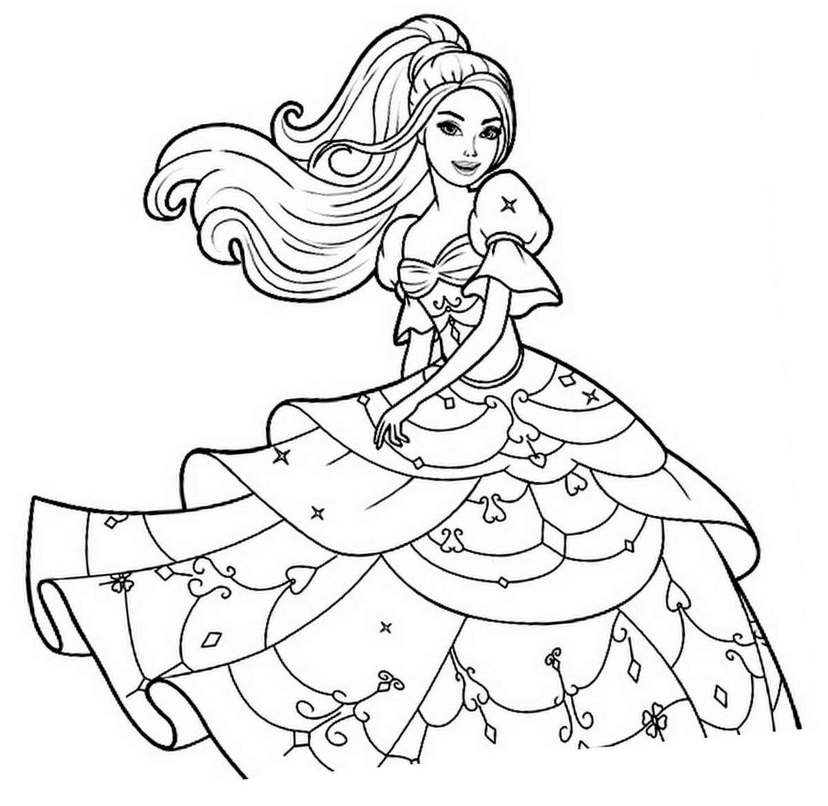 dessin a imprimer de barbie
