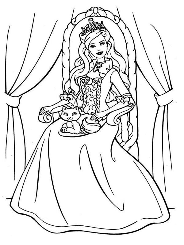 Coloriages à imprimer : Barbie, numéro : 5534