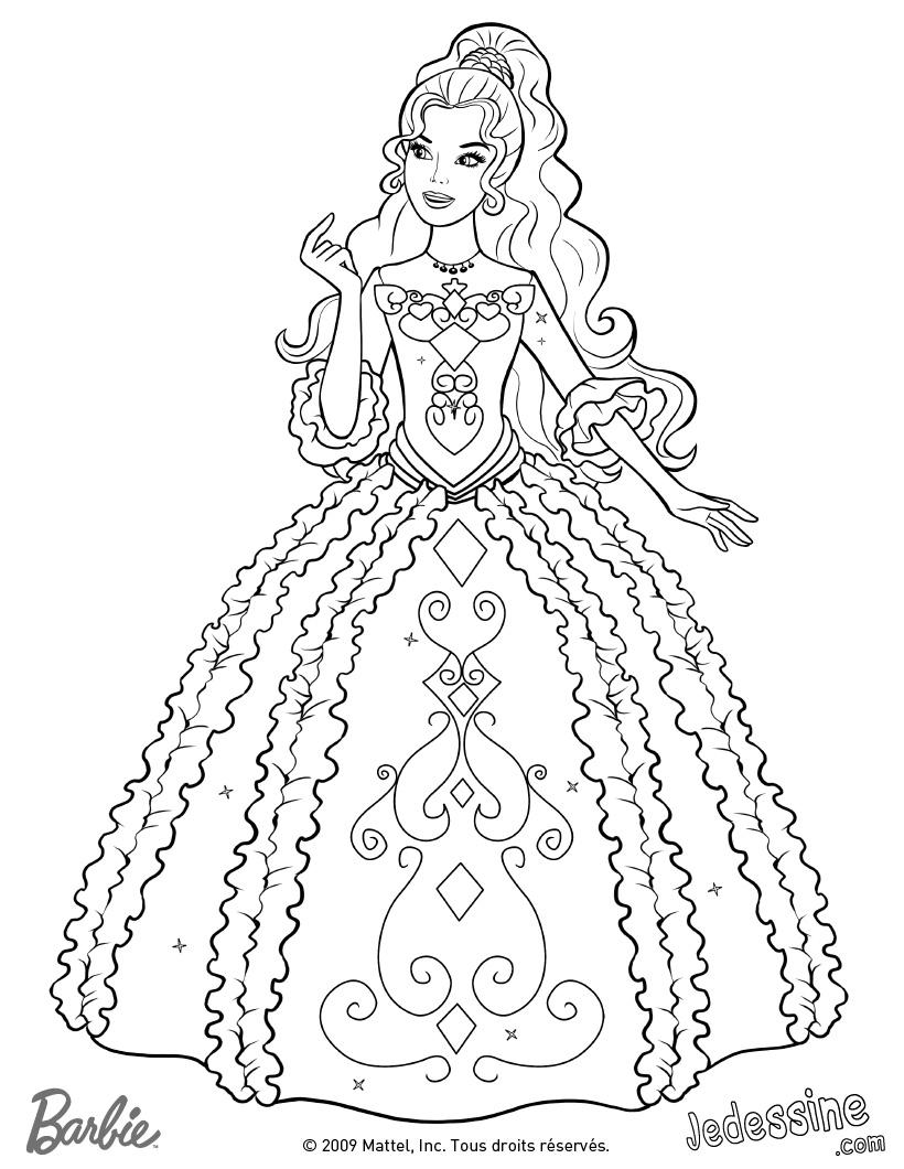 Coloriages à imprimer : Barbie, numéro : 5bcd2935
