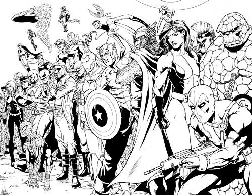 Coloriages imprimer avengers num ro 398335 - Comics dessin ...
