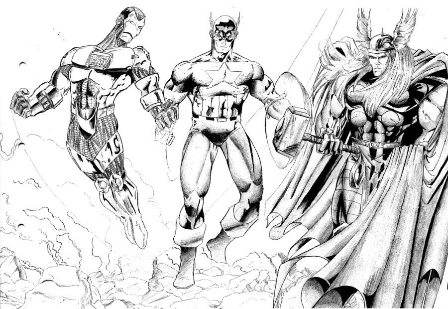 Coloriages à Imprimer : Avengers, Numéro : 398351