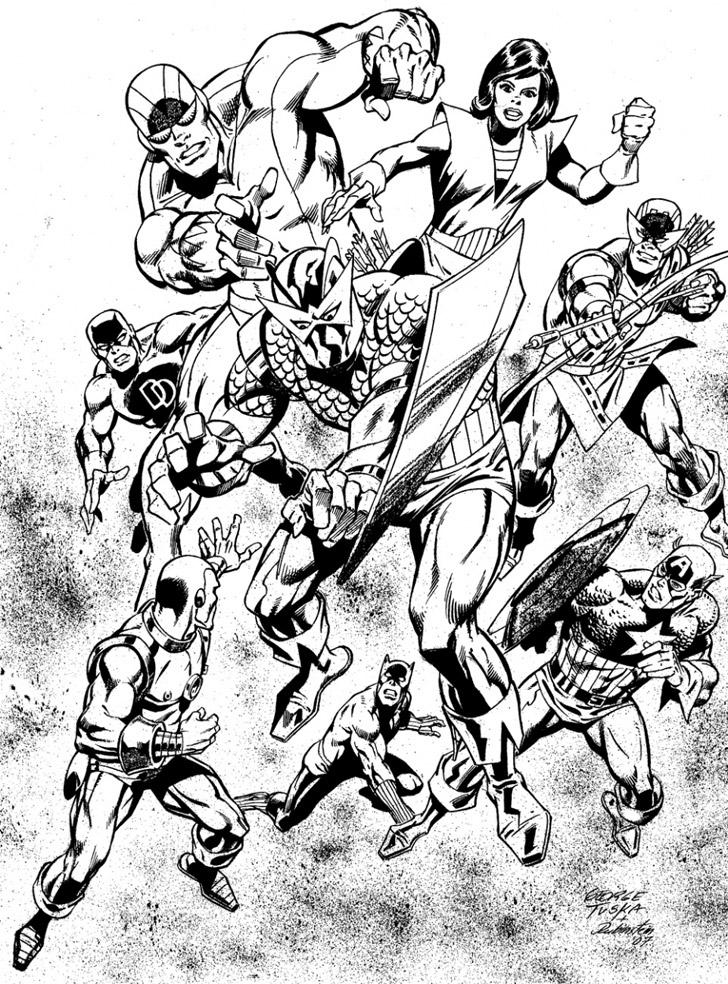 Coloriages imprimer Avengers