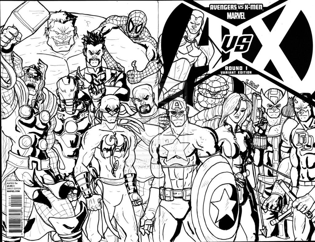 imprimer le coloriage personnages celebres comics avengers numro 405274