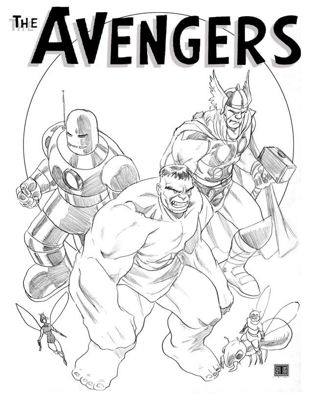 imprimer le coloriage personnages celebres comics avengers numro 410292