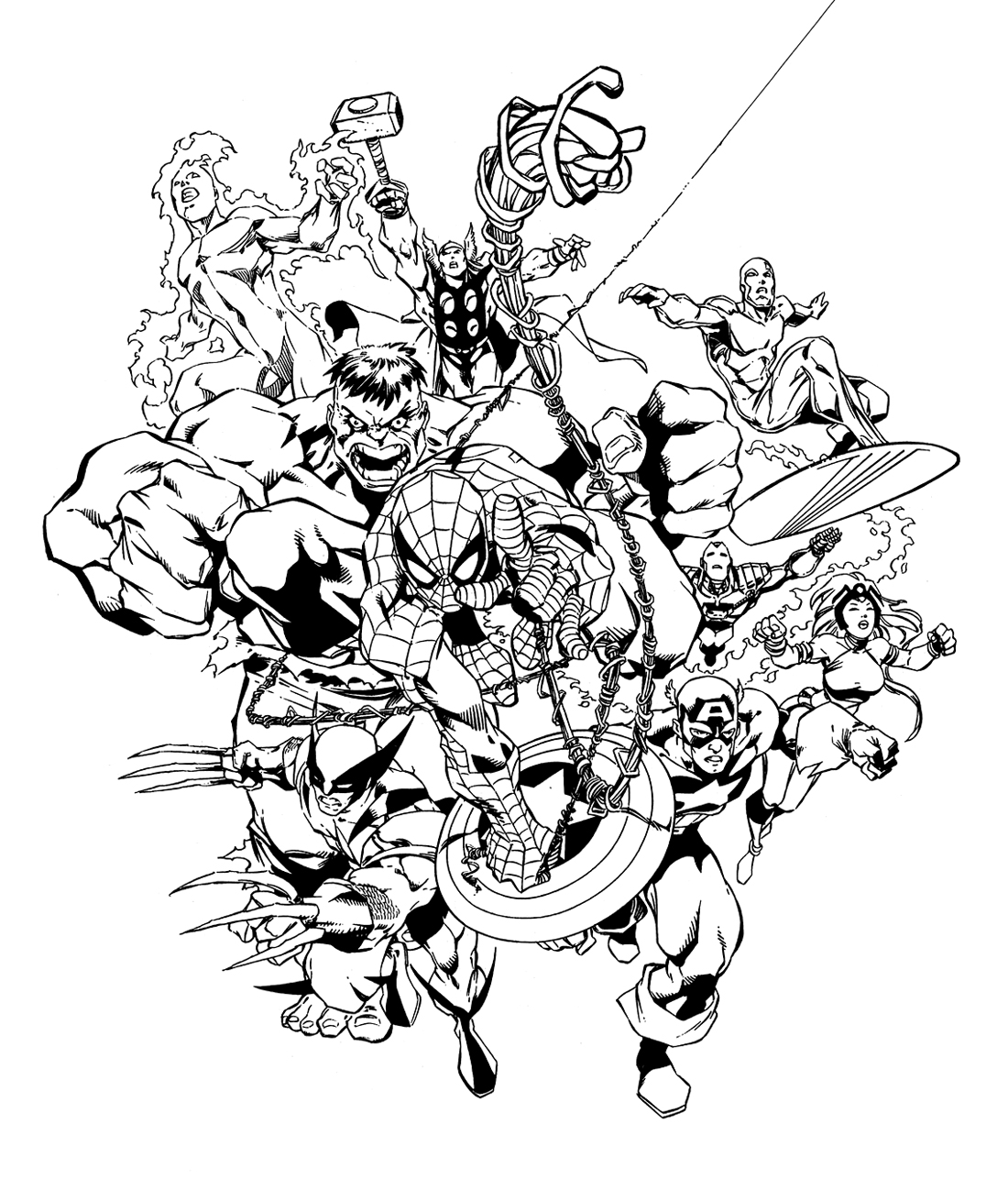 marvel comic coloring pages free - photo#22