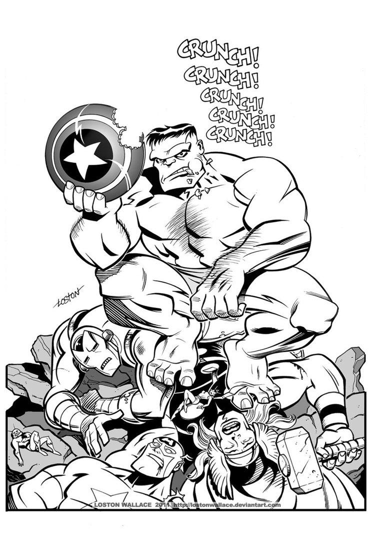 Coloriages 224 Imprimer Avengers Num 233 Ro 469798