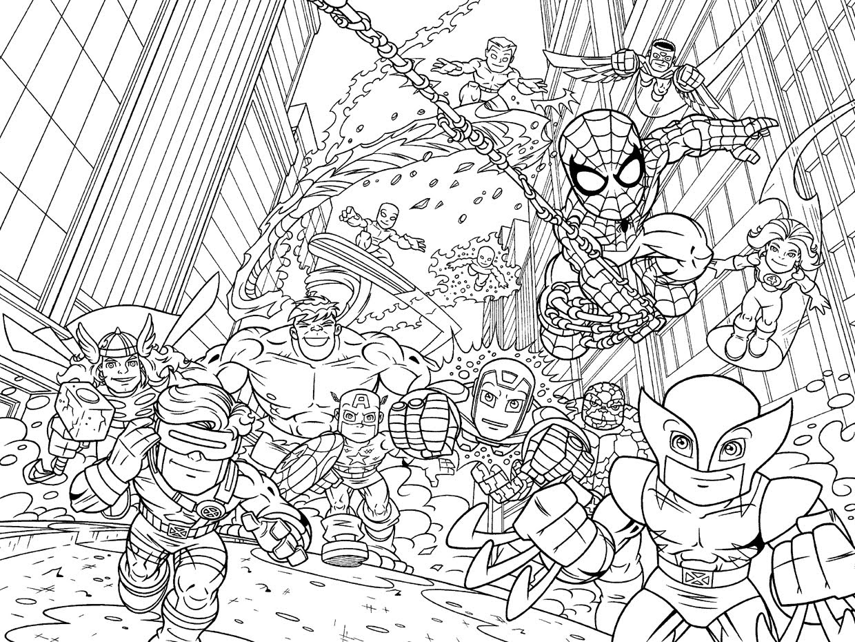 imprimer le coloriage personnages celebres comics avengers numro 54560