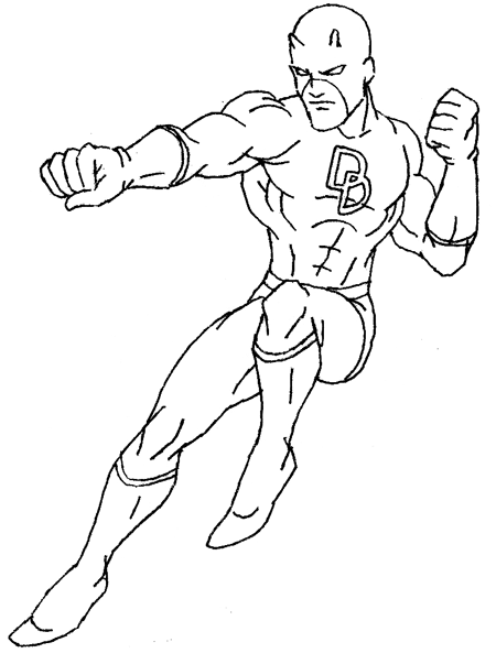 Coloriages imprimer Daredevil num ro 2586