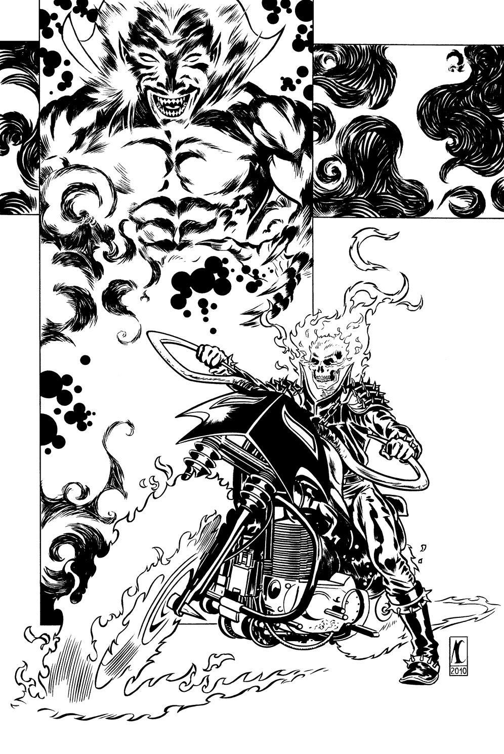Coloriages imprimer ghost rider num ro 17649 - Coloriage ghost rider ...