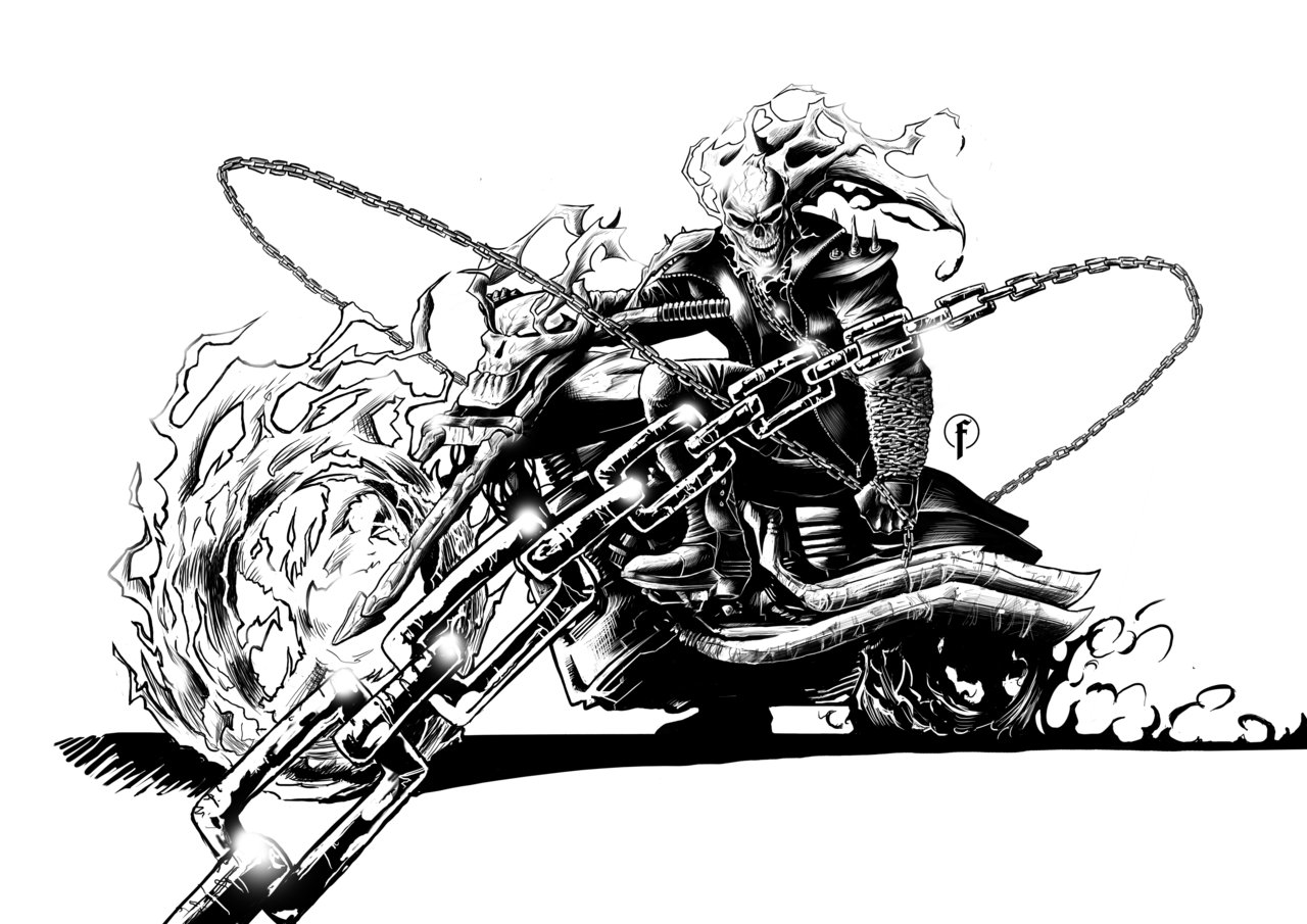 Coloriages imprimer Ghost Rider