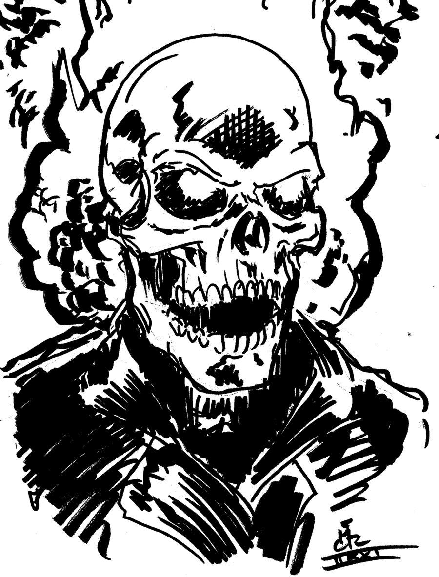 Coloriage imprimer personnages c l bres comics - Coloriage ghost rider ...