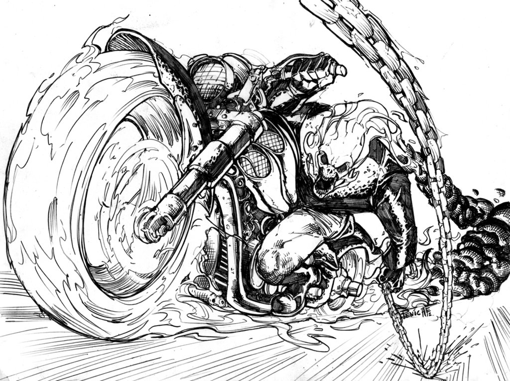 Coloriages imprimer ghost rider num ro 219933 - Coloriage ghost rider ...
