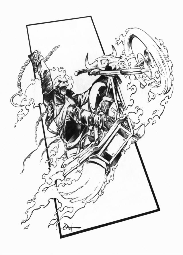 Coloriages à imprimer : Ghost Rider, numéro : 672908