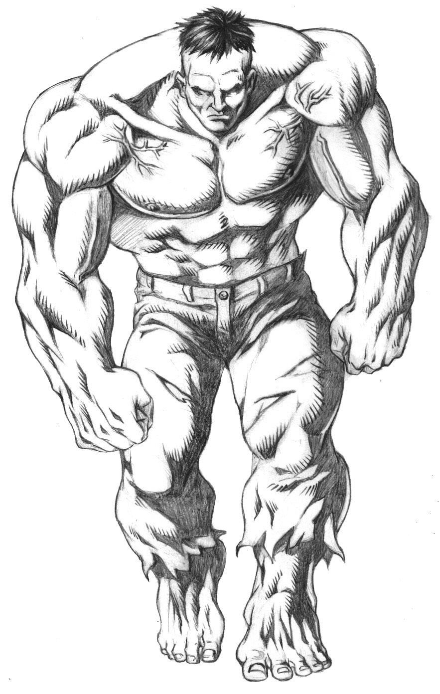 Coloriages à imprimer : Hulk, numéro : 21688