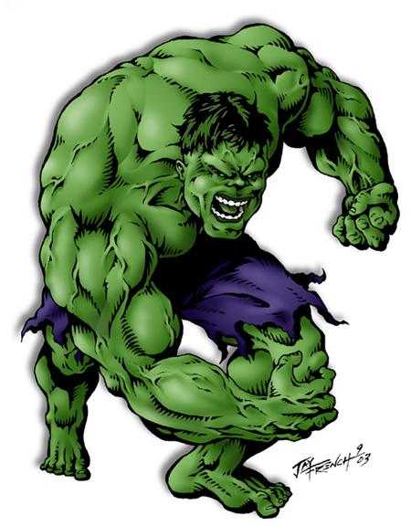 Dessins en couleurs à imprimer hulk numéro
