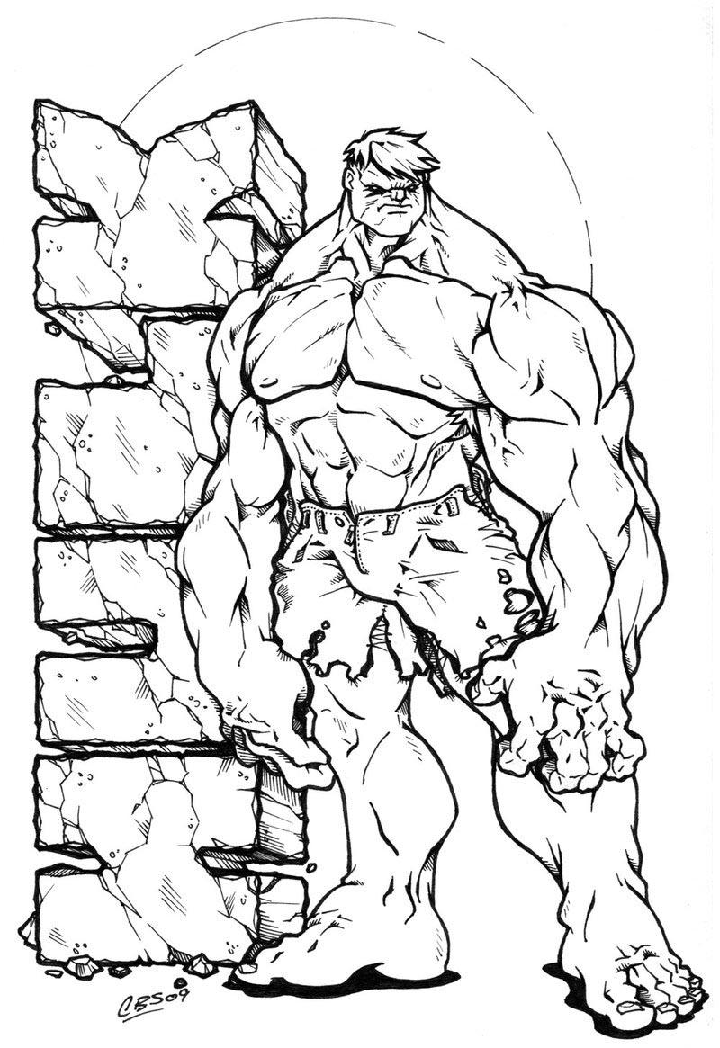Coloriages à imprimer : Hulk, numéro : 755311