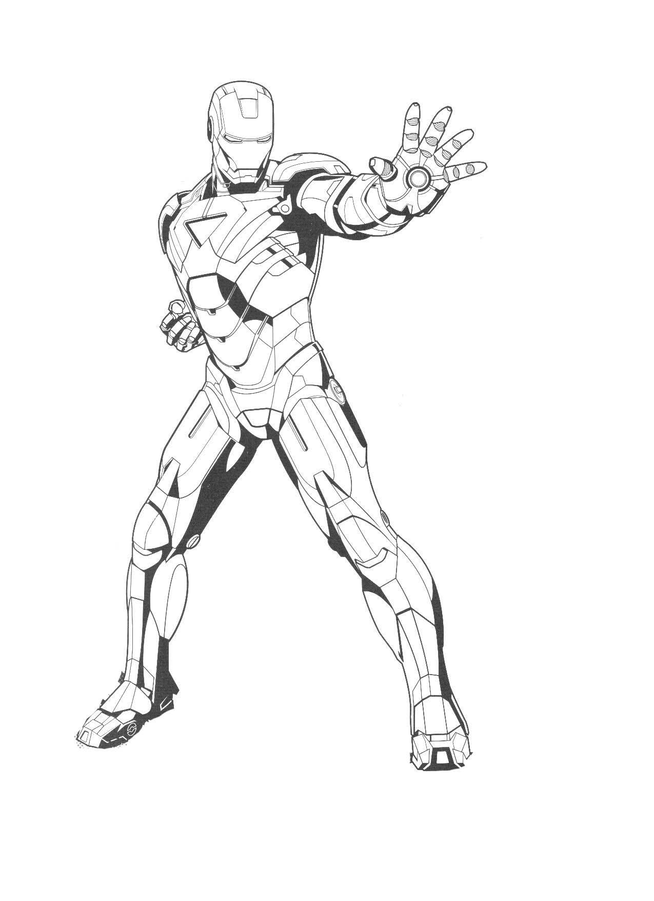 Coloriages imprimer Iron Man