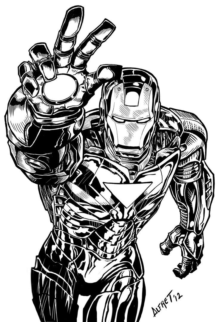 Coloriages à imprimer : Iron Man, numéro : 167265